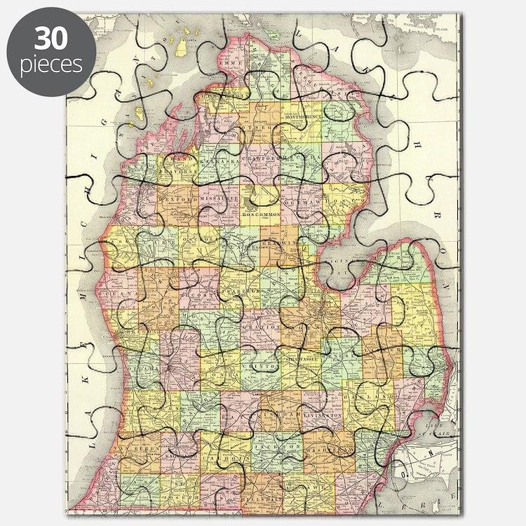 Cute I love michigan Puzzle