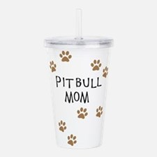 Pitbull Mom Acrylic Double-wall Tumbler