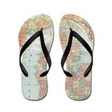 Michigan map Flip Flops