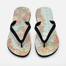Unique I love michigan Flip Flops
