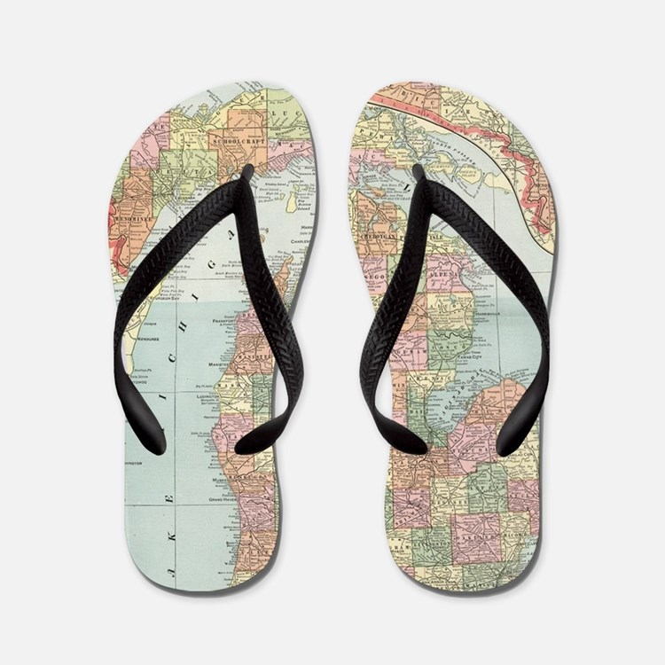 Cute Location Flip Flops