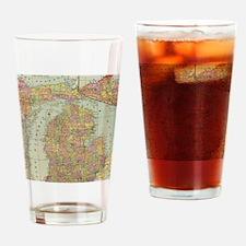 Cute I love michigan Drinking Glass