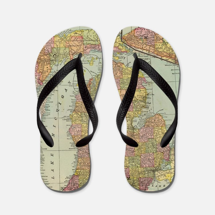 Cute Michigan Flip Flops