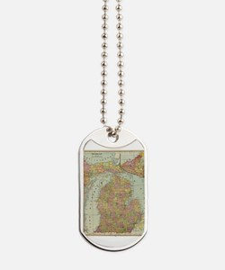 Funny Michigan Dog Tags
