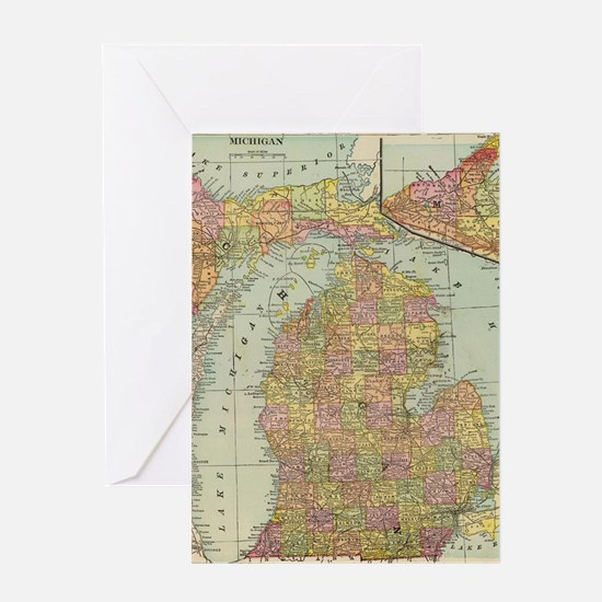 Unique City map Greeting Card