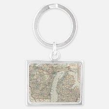 Cute Regional maps Landscape Keychain