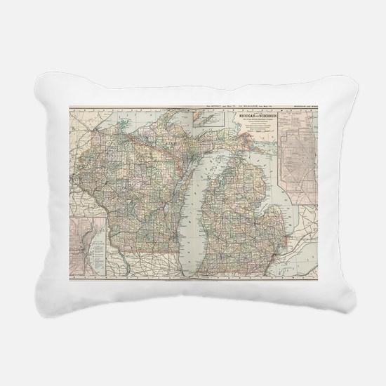 Unique Wisconsin Rectangular Canvas Pillow