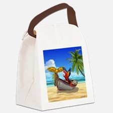 Parrots of the Caribbean Canvas Lunch Bag