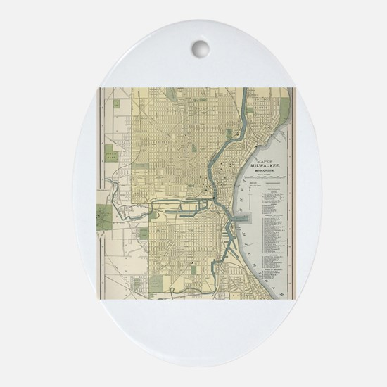 Cute Milwaukee wisconsin Oval Ornament