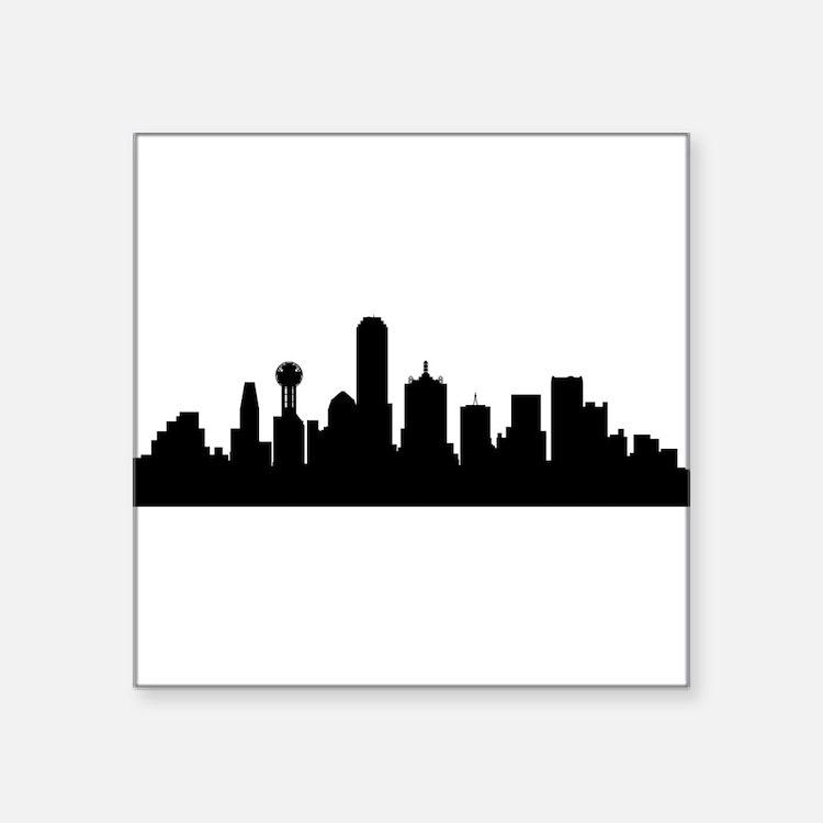 Dallas Cityscape Skyline Sticker