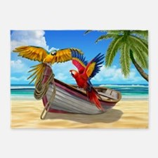 Parrots of the Caribbean 5'x7'Area Rug