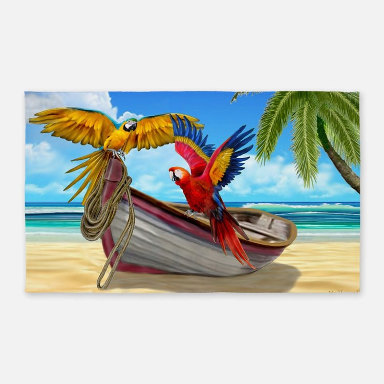 Parrots of the Caribbean Area Rug