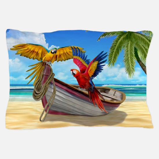 Parrots of the Caribbean Pillow Case