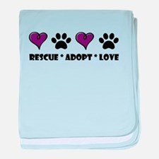 Unique Rescue dogs baby blanket