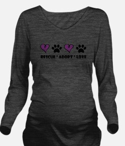 Cute Animal rescue Long Sleeve Maternity T-Shirt