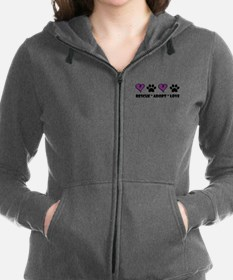 Cute Rescue dogs Women's Zip Hoodie