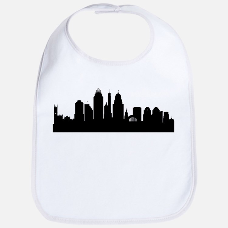 Cincinnati Cityscape Skyline Bib