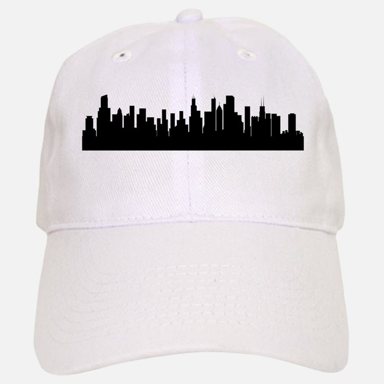 Chicago Cityscape Skyline Baseball Baseball Baseball Cap