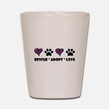 Funny Dog rescue Shot Glass