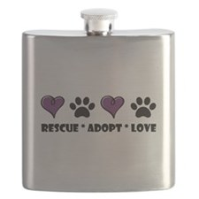 Cute Rescue shelter Flask