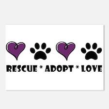 Unique Rescue animals Postcards (Package of 8)