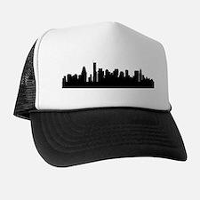 Boston Cityscape Skyline Trucker Hat