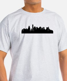 Boston Cityscape Skyline T-Shirt
