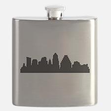 Austin Cityscape Skyline Flask