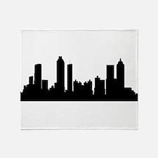 Atlanta Cityscape Skyline Throw Blanket