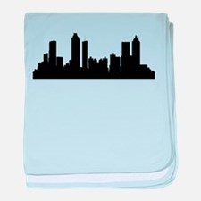 Atlanta Cityscape Skyline baby blanket