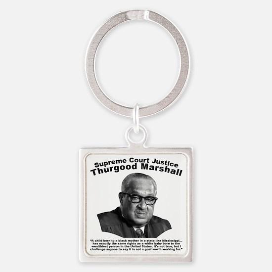 Thurgood Marshall: Equality Square Keychain