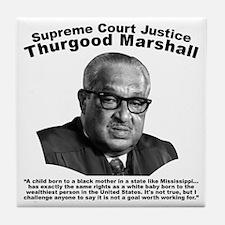 Thurgood Marshall: Equality Tile Coaster