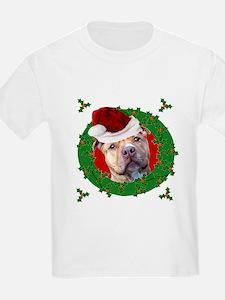 Christmas Pitbull Dog T-Shirt