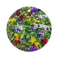 More Pansies Round Ornament