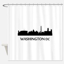 Washington DC Cityscape Skyline Shower Curtain