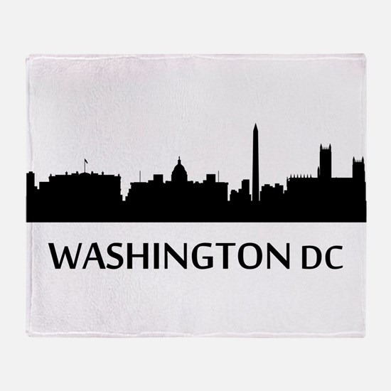 Washington DC Cityscape Skyline Throw Blanket