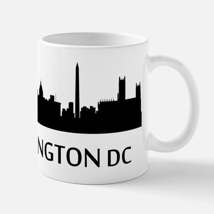 Washington DC Cityscape Skyline Mugs