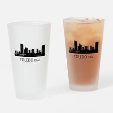 Toledo Cityscape Skyline Drinking Glass