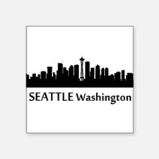 Seattle Cityscape Skyline Sticker