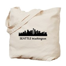 Seattle Cityscape Skyline Tote Bag