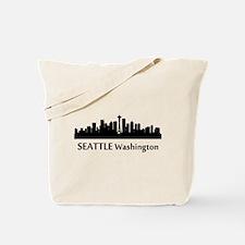 Seattle Cityscape Skyline Tote Bag