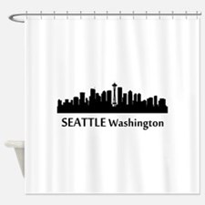 Seattle Cityscape Skyline Shower Curtain