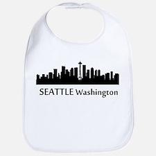 Seattle Cityscape Skyline Bib