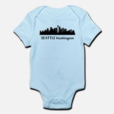 Seattle Cityscape Skyline Body Suit
