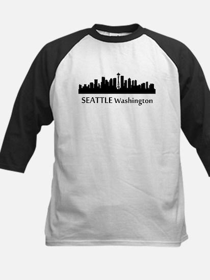 Seattle Cityscape Skyline Baseball Jersey