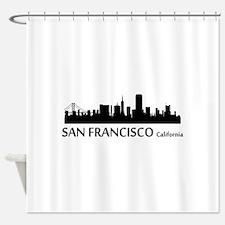 San Francisco Cityscape Skyline Shower Curtain