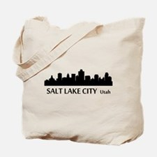 Salt Lake City Cityscape Skyline Tote Bag