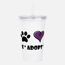 Cute Dog rescue Acrylic Double-wall Tumbler