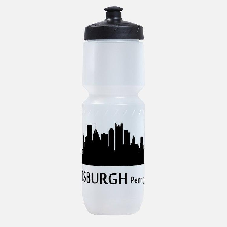 Pittsburgh Cityscape Skyline Sports Bottle