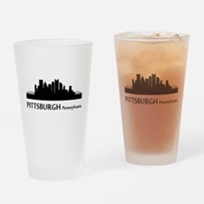 Pittsburgh Cityscape Skyline Drinking Glass